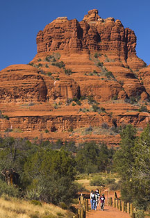 Bell Rock formation in Sedona AZ has amazing hiking trails