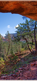 Red rock vistas and arches  located throughout Sedona's hiking trails