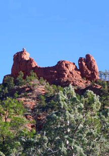 Legendary Snoopy Rock formation in Sedona, AZ